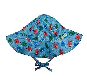 Chapéu de Banho Infantil Com FPS 50+ Monstrinhos - Ecoeplay