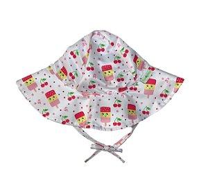 Chapéu de Banho Infantil Com FPS 50+ Picolé - Ecoeplay