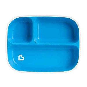 Prato Com Divisórias Azul - Munchkin