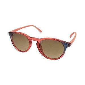 Óculos de Sol Infantil Tamanho Único UV 400 Rosa Azul Bicolor - Pimpolho