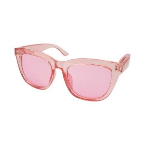 Óculos de Sol Infantil Tamanho Único UV 400 Rosa Transparente - Pimpolho