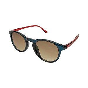 Óculos de Sol Infantil Tamanho Único UV 400 Azul Vermelho Bicolor - Pimpolho