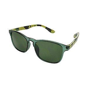 Óculos de Sol Infantil Tamanho Único UV 400 Verde Camuflado - Pimpolho