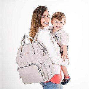 Mochila Maternidade Basic Cinza - Comtac Kids