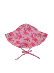 Chapéu de Banho Infantil Com FPS 50+ Siri Rosa - Ecoeplay
