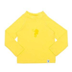 Camiseta de Banho Com FPS 50+ Manga Longa Amarela - Ecoeplay