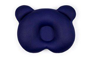 Almofada Ergonômica Para Cabeça do Bebê Ursinho Azul - Baby Pil