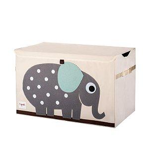 Organizador de Brinquedos Retangular Com Tampa Elefante - 3 Sprouts
