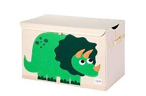 Organizador de Brinquedos Retangular Com Tampa Dino - 3 Sprouts