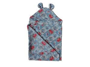 Cobertor Infantil Com Capuz Dino - Colo de Mãe7