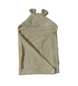 Cobertor Infantil Com Capuz Bege - Colo de Mãe