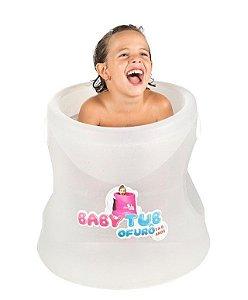 Banheira Ofurô Branca Cristal 1 a 6 anos - Baby tub