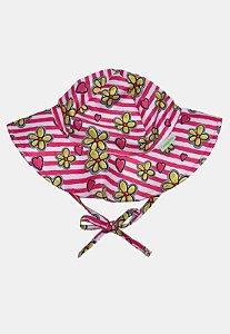 Chapéu de Banho Infantil Com FPS 50+ Flor Amarela  - Ecoeplay