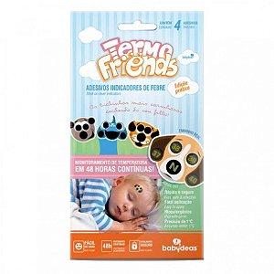 TERMOFRIENDS - Termômetro Adesivo Que Monitora Temperatura 4 Unidades - Babydeas