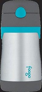 Garrafinha Térmica FOOGO 290 mL Cinza e Azul - Thermos Foogo