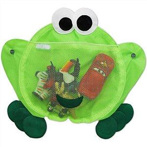 Organizador Para Brinquedos de Banho Sapinho Verde - O sapo e a princesa