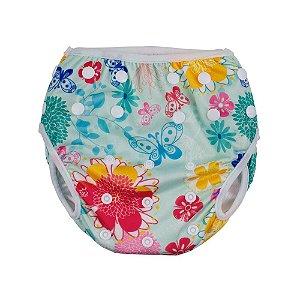 Calcinha de Banho Para Piscina e Desfralde Floral - Comtac Kids