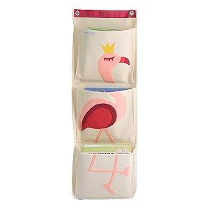 Organizador de Livros Infantis Flamingo - O Sapo e a Princesa