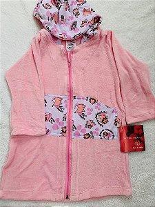Roupão Infantil Com Capuz e Manga Comprida Plop - Colo de Mãe