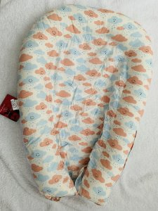 Ninho Redutor de Berço U-Baby Nuvem Rosa e Azul - Colo de Mãe
