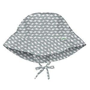 Chapéu de Banho Infantil Com Regulagem Peixinhos Cinza - Iplay