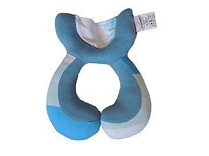 Almofada Anatômica de Pescoço Listras Azuis - Colo de Mãe