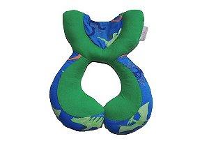 Almofada Anatômica de Pescoço Dinossauro Verde - Colo de Mãe