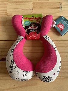 Almofada Anatômica de Pescoço Passarinhos Rosa - Colo de Mãe