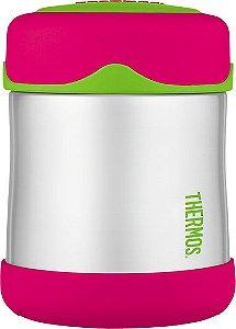 Pote Térmico FOOGO 290 ml Rosa e Verde - Thermos Foogo