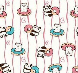 Toalha Infantil Gigante Pandas - Colo de Mãe