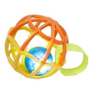Baby Ball Luz e Som Laranja e Amarelo - Buba
