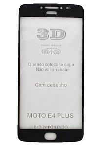[KIT COM 10] Película De Vidro 3d P/ Moto E4 Plus (PRETO)