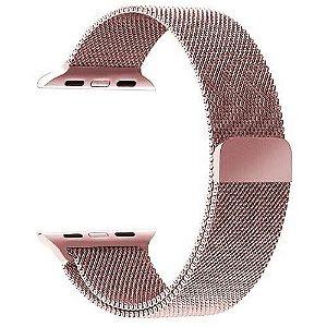 Pulseira Milanese Aço Para smart Watch 38 40 42 44 Magnetico