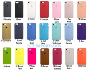 [PACOTE COM 50] Capa Silicone Case iPhone iPhone 6 6s