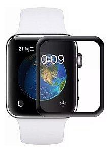 [KIT COM 10] Película Vidro 3d Borda Preta P/ Apple Watch 38 40 42 44mm