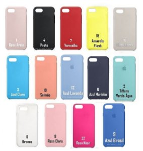 [PACOTE COM 10] Capa Silicone Case iPhone iPhone 7/8 Normal