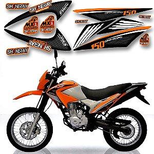 Faixa Shineray Gy Enduro 150cc laranja