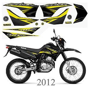 Faixa Lander 250 amarelo grafismo 2012