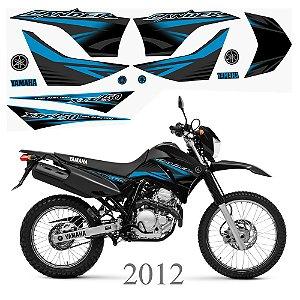 Faixa Lander 250 ciano com preto grafismo 2012