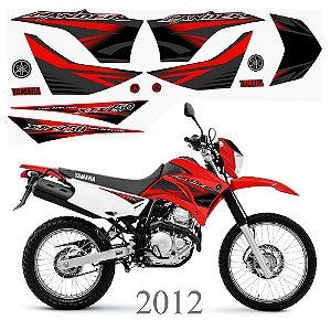 Faixa Lander 250 vermelha grafismo 2012