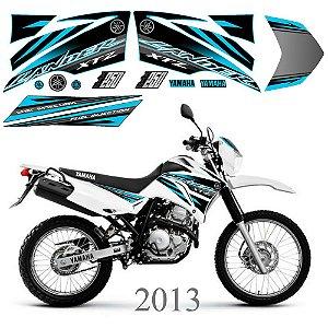 Faixa Lander 250 azul ciano grafismo 2013