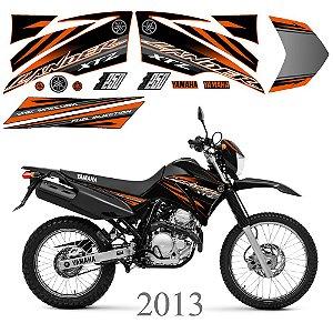 Faixa Lander 250 laranja com preto grafismo 2013