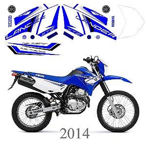 Faixa Lander 250 azul grafismo 2014