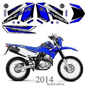 Faixa Lander 250 azul com preto grafismo 2014