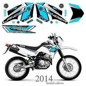 Faixa Lander 250 ciano grafismo 2014