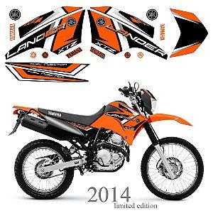 Faixa Lander 250 laranja grafismo 2014