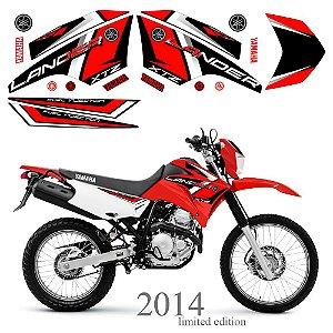 Faixa Lander 250 vermelho grafismo 2014