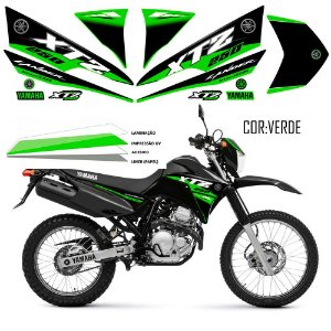 Faixa Lander 250 verde grafismo 2016