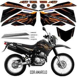 FAIXA Lander 250 preto com laranja grafismo 2017 exclusivo