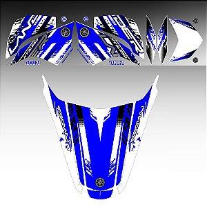 FAIXA Lander 250 azul grafismo 2018 especial + adesivo rabeta